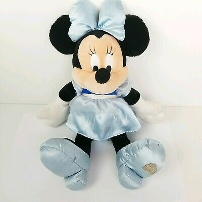 Disney Parks Minnie Mouse Plush Disney Dream Friends Blue Dress 15 Inch Toy