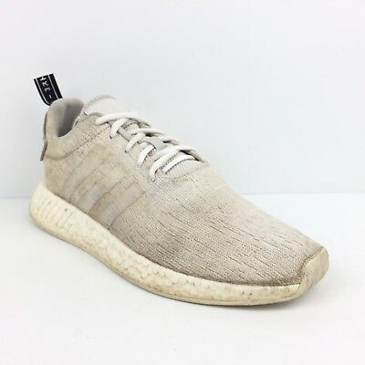 brand new aacb2 bd49d Men s Adidas NMD R2 White Running Shoes Size 11.5 Primeknit Athletic  Sneakers