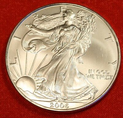 2006 AMERICAN SILVER EAGLE DOLLAR 1 oz .999% BU GREAT COLLECTOR COIN GIFT