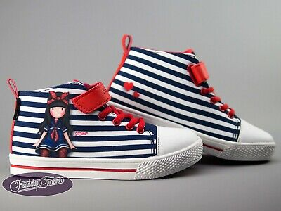 Gorjuss Little Fishes Kids Hi-top Canvas Shoes Santoro London Trainers Sneakers