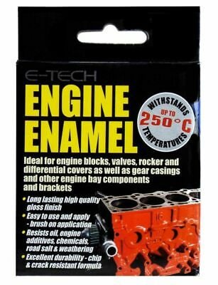 E-Tech Black Engine Enamel High Heat Paint 250°C Engine Blocks etc - 250ml
