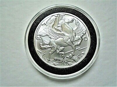 2013 Pegasus 1 Troy OZ Pure .999 Fine Silver Coin / Round in Capsule