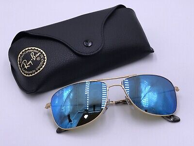 b8e2b34b1a Ray Ban RB3543 112 A1 Polarized Blue Mirror Chromance  Gold AUTHENTIC Italy