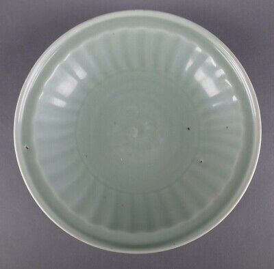 18th/19th Century Chinese Porcelain Ceramic Celadon Plate Work Of Art