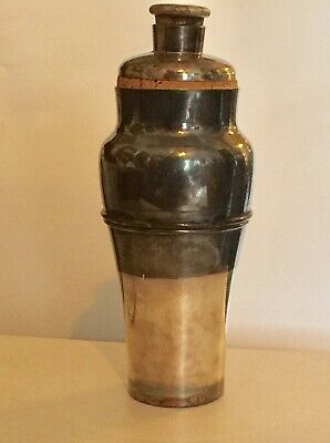 Vintage Antique Travel cocktail shaker Meriden S.P. Co.International Silver Co.