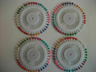 Quality 200 (5X40) Multicoloured Pearl Head Dressmakers Pins