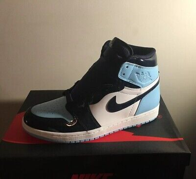 c603450d597fcc Nike Air Jordan 1 Retro High Blue Chill UNC Patent Leather CD0461-401 7.5M
