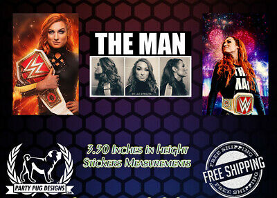 WWE Becky Lynch Stickers! Set Of 3! LAST ONES!!!