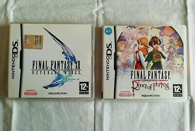 Lotto Final Fantasy Ring of Fates e Revenant Wings Nintendo DS 2DS 3DS Completi