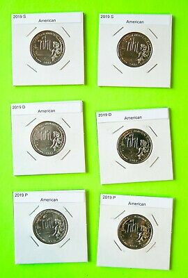 2019 PDS x2(6 coins) American Memorial Park  America the Beautiful(ATB)
