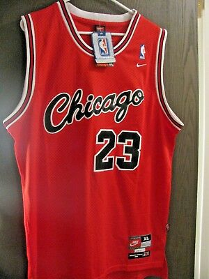outlet store c6a46 3fd9a Michael Jordan Nike JERSEY vintage Flight 8403 1984 - Red - Chicago Sewn XL  NWT