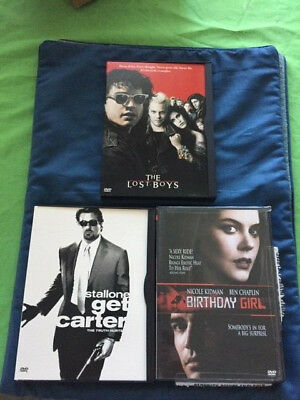 The Lost Boys, Get Carter, & Birthday Girl THREE DVDS