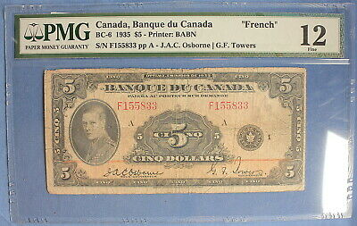 1935 - Bank of Canada - $ 5 - BC-6  - Osbourne-Towers (French)