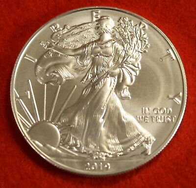 2019 AMERICAN SILVER EAGLE DOLLAR 1 oz .999% BU GREAT COLLECTOR COIN GIFT