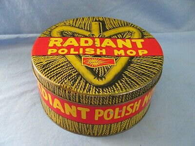 VINTAGE ADVERTISING TIN: Radiant Dust Mop Polish - $12 95 | PicClick