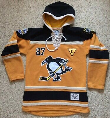 #87 Sidney Crosby Pittsburgh Penguins Ice Hockey Hoodie Top - Mens Size M - NHL
