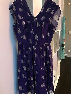 98d5c92eebb ModCloth x Anna Sui Vision of Bliss Floral Green Dress Size 8.