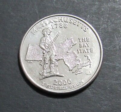 2000-D 25C Massachusetts State Quarter