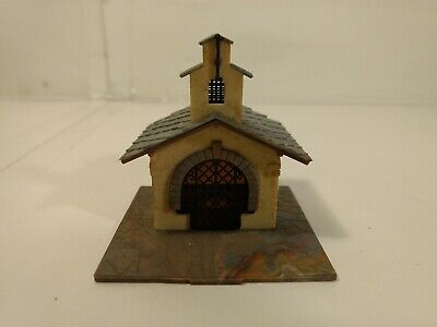 Vintage Plastic Stone Built Church Chapel HO Gauge Scale tr920