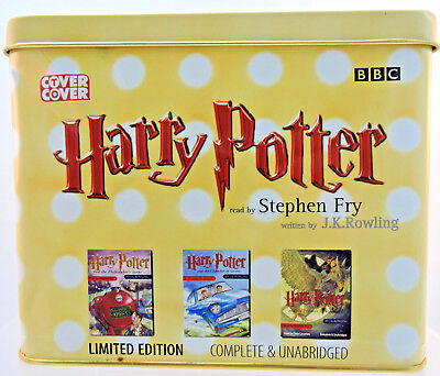 Limited Edition Harry Potter 3 AudioBook Cassette Tapes #3677 of 12000 copies