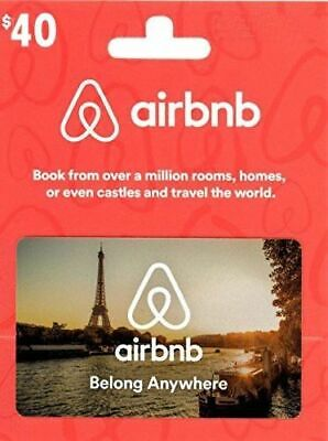 Airbnb $40 gift credit towards $75 (for first time users). BENEFITS CHARITY!