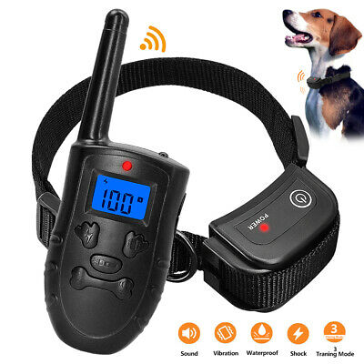 Remote Dog Shock Collar Rechargeable Anti Bark Small Large Pet Training Control