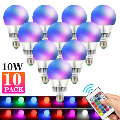 10W E26 RGB LED Light Bulb Multi Colors Change Memory Magic Lamp+Remote Control