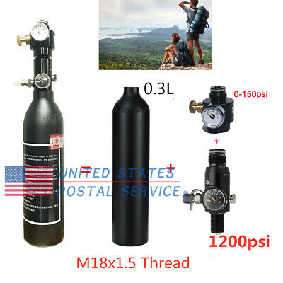 Adjustable Valve/Paintball Output 1200psi Regulator With 0.3L Air Tank For PCP