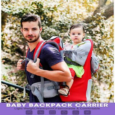 Baby Toddler carrier back chair stand child packbasket hiking backpack sunshade