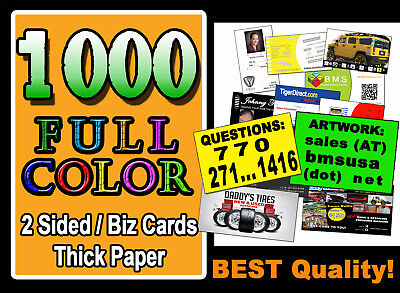FREE S&H = 1000 BUSINESS CARDS | 2 SIDES | UV Gloss! FAST 24-48 HR PRINTING SEE!