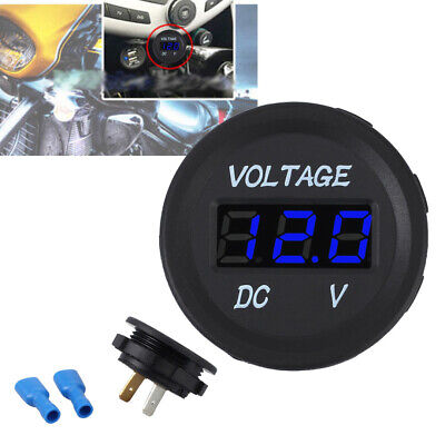 LED Panel DC12V Digital Voltage Socket Meter Gauge Voltmeter Motorcycle Car Boat