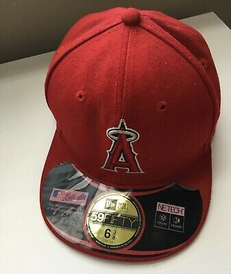 competitive price 4dba3 b186a New Era 59Fifty Cap LOS ANGELES ANGELS MLB Boys Kids Youth Hat Sz 6 3