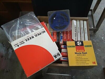 Movie reels x27 super 8 size (some with film some without)