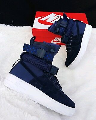 7291211f7fd2 7 Women s Nike W Sf Af1 Special Field Air Force 1 Midnight Navy Boots 857872 -
