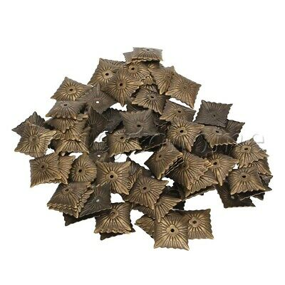 100pcs Vintage Style Iron Square Upholstery Tacks Brass Furniture Nails Pins