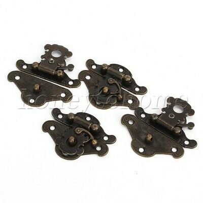 Vintage Style Butterfly Latch Hasp and Screws for Cabinet Jewelry Box Gift Box