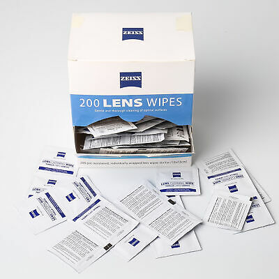 ZEISS Lens Cleaning Wipes 200CT Eye Glasses Phone Optical Camera Screen Cleaner