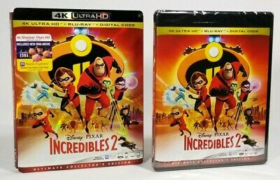 Incredibles 2 4k Ultra HD+Blu-ray+Digital Ultimate Collector's Disney Slipcover