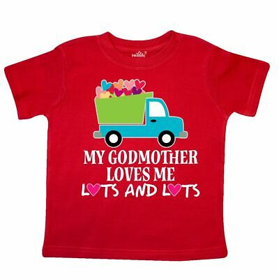 b9dcbc3a Inktastic My Godmother Loves Me Toddler T-Shirt Godchild Childs Clothing  New Kid