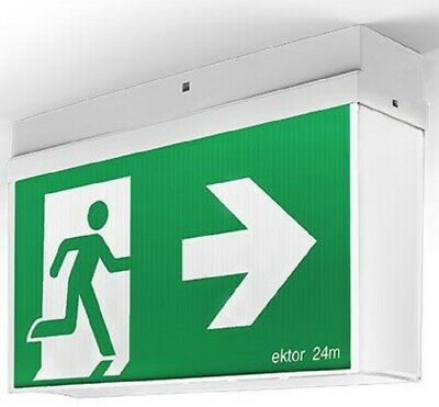 Evolt BASIC EMERGENCY EXIT 300x150mm 230V 50Hz With Decal Terminal Block Wiring