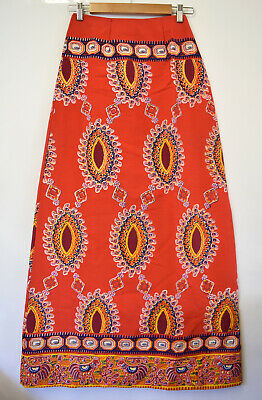 Vintage 1970s Handmade Maxi Skirt Size 6 XXS Party Costume