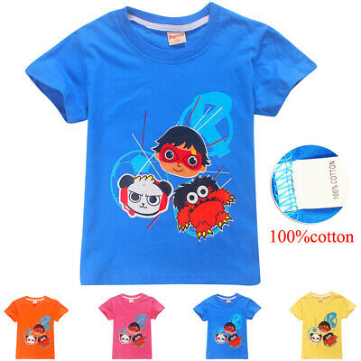 Ryan Toys Review 100 Cotton T Shirt Birthday Gift Girls Boys Kids Top Sisters
