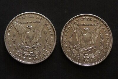 1887 & 1921D Morgan Dollars Silver Coin Free Registered Post.