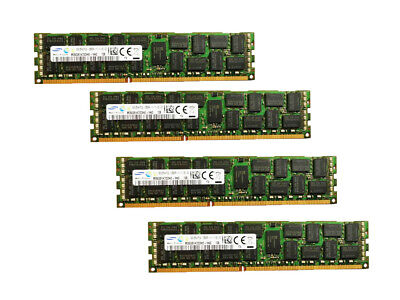 Server RAM 32G 4x 8GB PC3L-12800R ECC REG DDR3 1600 1Rx4 1.35v RDIMM Memory LOT