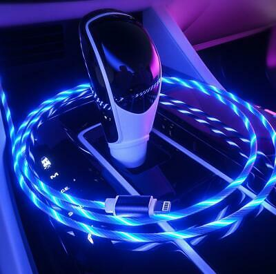 Type-C iPhone LED flowing Light Up USB Sync Charger Data Cable Charging Cord