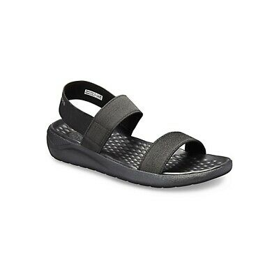 b342a70ec913 Crocs 205106 LITERIDE SANDAL Ladies Open Toe Ankle Strap Comfort Sandals  Black
