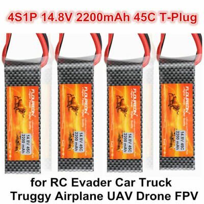 2 pack 7.4V 5200mAh 2S 30C Lipo Battery Hard Case Deans Plug for RC Car Airplane