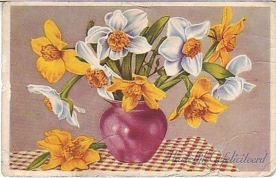 Netherlands - Warm Congratulations (Post Card) 1953