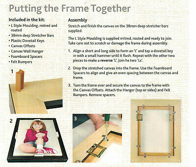 L Style Moulding Kit For Framing Stretched Canvases Floater Frame