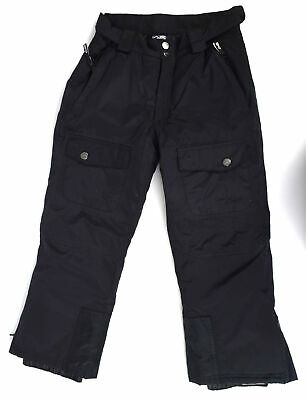 Arctic Star Kids Pants 10 Boys/Girls Unisex Black Casual Trousers Cargo Snow Ski
